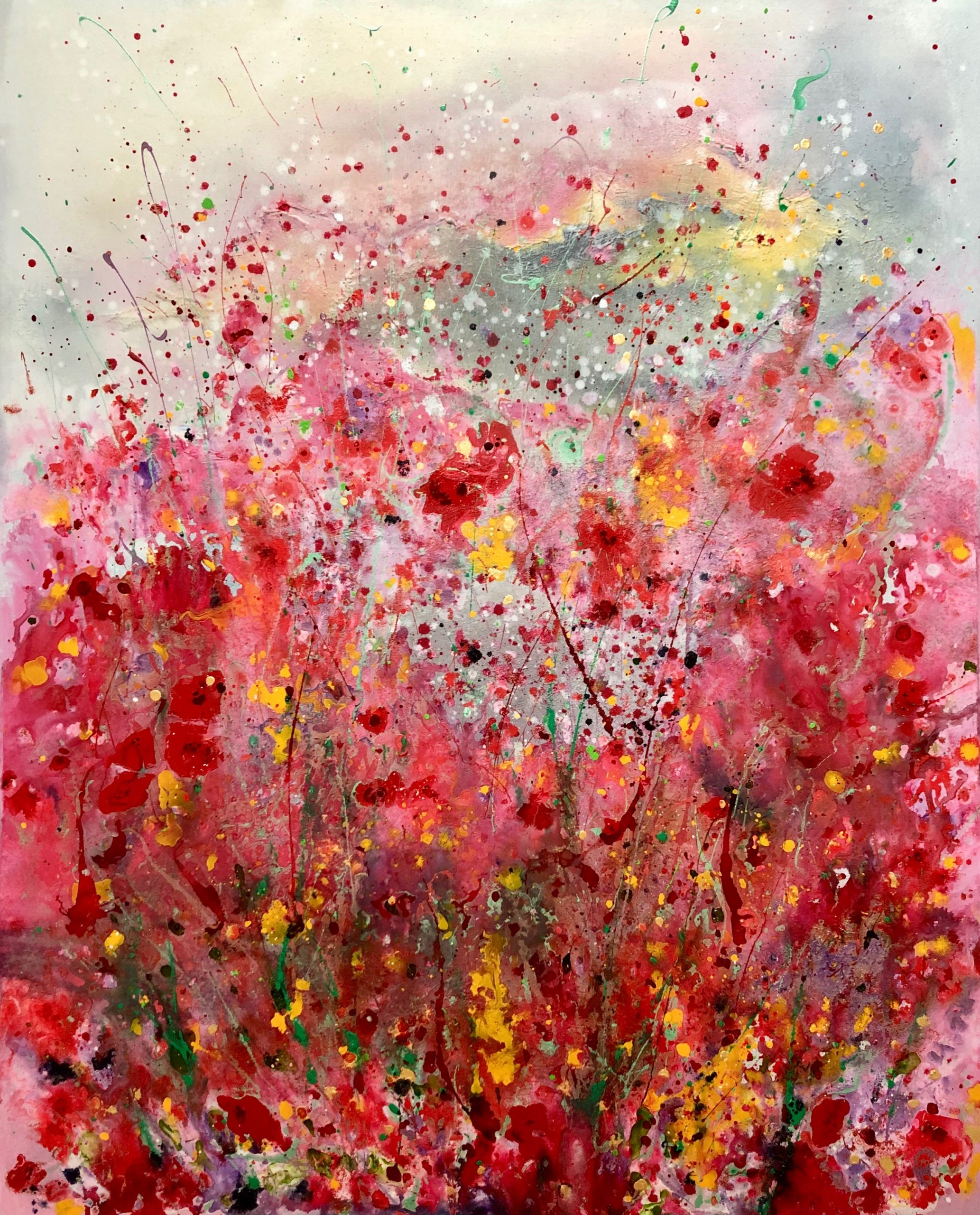41.Primavera 100x126. Acrylic_mixed media on block canvas framed £1650