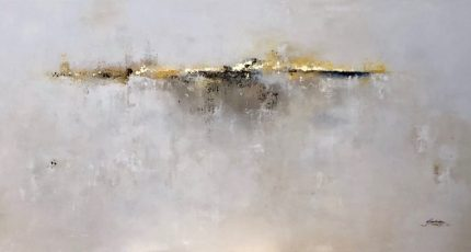 16.City in the Sky 240x140. Acrylic_mixed media on block canvas Sold