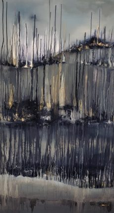 22.Contrary 102x167. Acrylic_mixed media on block canvas framed £3200