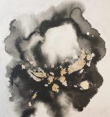 23.Black Iris 40x50. Ink_goldleaf_acrylic on canvas board unframed £488