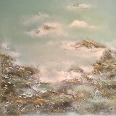 27.Rockpools 120x120. Acrylic_mixed media on block canvas framed £2940