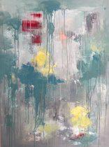 30.My First Art Memory 64x90. Acrylic on Canvas unframed £720