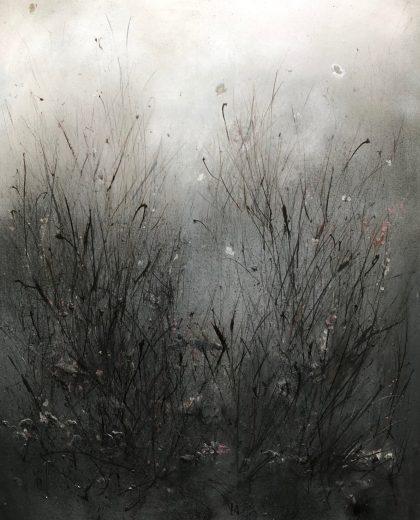 33.Butterflies & Bulrushes 100x126. Acrylic_mixed media on block canvas unframed £1392