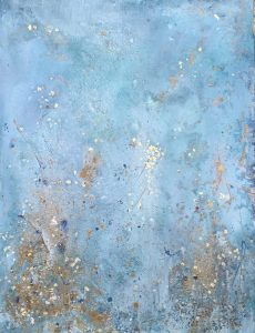 34.The Gold Beneath I 100x140 Acrylic_goldleaf_mixed media on canvas framed Sold