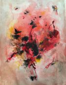 40.Romance 42x58. Acrylic_mixed media on paper framed £800
