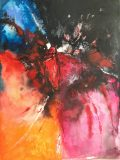 43.A Bugs View 30x40. Acrylic_mixed media on paper unframed £264