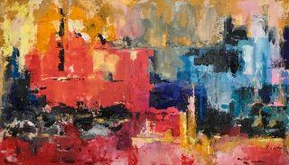52.The Beginning 122x75. Acrylic_mixed media on canvas unframed £1200