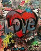 54. On site - Artists Love 36x45 Acrylic on block canvas unframed £600